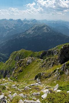 Mountain landscape on Agrafa Mountains in Thessaly, Greece