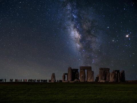 The milky way over stonehenge uk