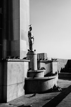 Statue In Front Of A Building