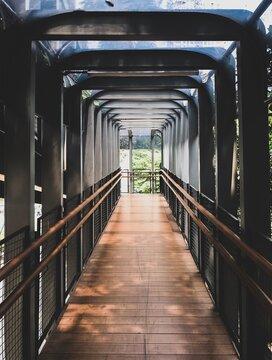 View Of Empty Footbridge