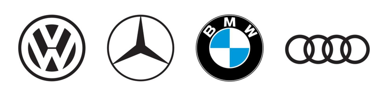 Top Germany auto cars company emblem logo set. Editorial image. VINNITSIA, UKRAINE. MARCH 18, 2021.