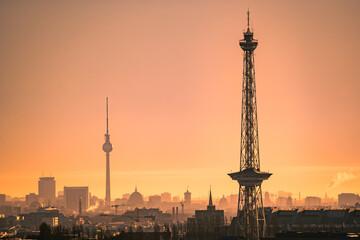 city of berlin during sunrise