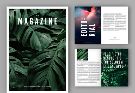 Magazine Layout with Black Accents