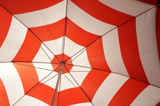Full Frame Shot Of Patterned Beach Umbrella