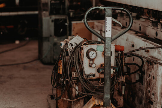 Close-up Of Old Machinery In Factory