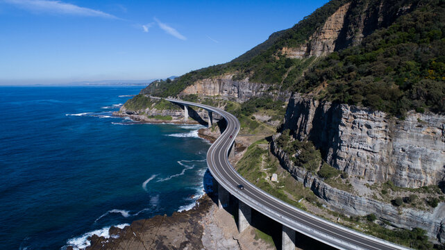 The Sea Cliff Bridge In Wollongong, Nsw, Australia