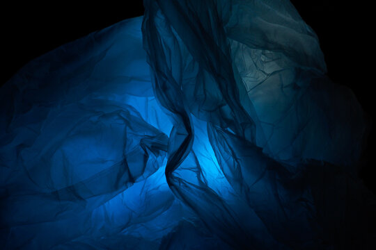 Blue Abstract Background Darkness And Light