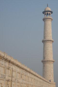 Low Angle View Of Taj Mahal Mausoleum Against Sky