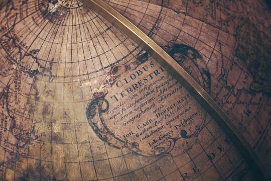 High Angle View Of Globe