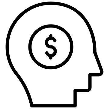 A linear design, icon of broker