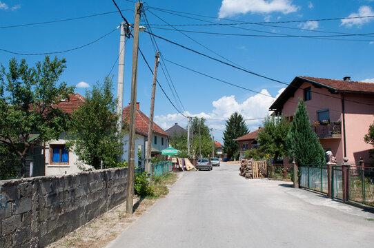 Street of Bihac, Bosnia and Herzegovina