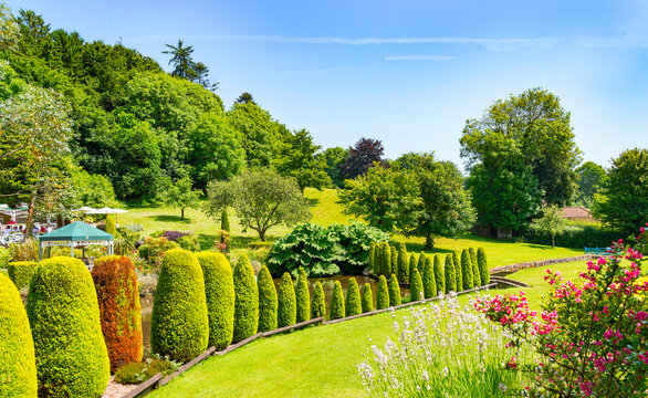 Cockington Village gardens, Torquay, Devon, England