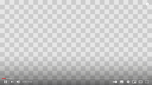 Youtube video layout, with editable timecode text, transparent. Vector.