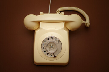 Fototapeta Close-up Of Rotary Phone On Table