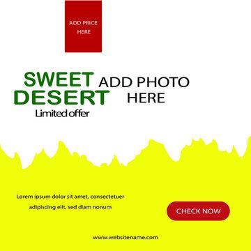 desert social media web banner