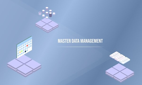 Master data management concept on abstract design