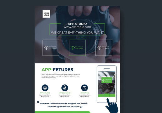 Mobile App Business Flyer Layout