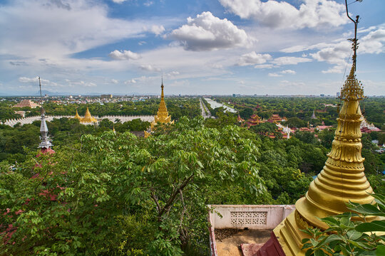 View from Mandalay Hill, Myanmar (Burma)