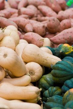Squash and sweet potatoes