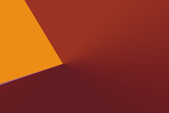 Abstract background with red and yellow geometric patterns - copy space