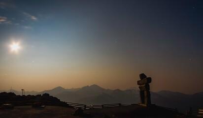 Fototapeta Full Moon Is The Alpine obraz
