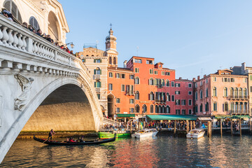 Corns And Canals Of Venice. Walking Through History. Italy
