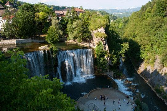 Waterfall in Jajce, Bosnia and Herzegovina