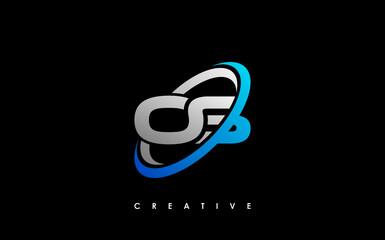 Obraz OS Letter Initial Logo Design Template Vector Illustration - fototapety do salonu