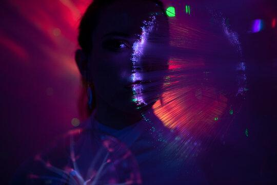 Galaktische Frau im cyber space