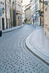 Narrow streets of old Prague