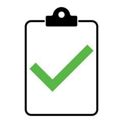 Fototapeta Check list , checklist flat web icon isolated on white background. Mark symbol, document report test, vector illustration