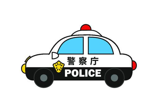 警察庁のパトカーベクターイラスト