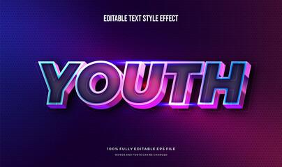 Fototapeta Modern editable text effect vibrant modern color shiny. Text style effect. Editable fonts vector files obraz