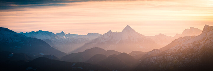 Mountain Panorama - Berchtesgaden Alps with Watzmann