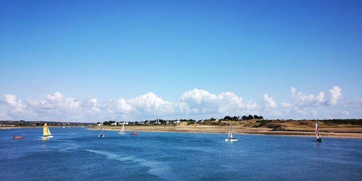 Boote im Hafen von Carteret