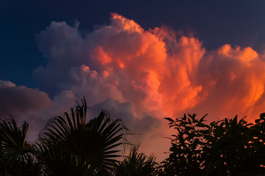 Florida displays some spectacular sunsets.  Quite often the clouds appear to be on fire.