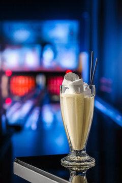 Milkshake with marshmellos