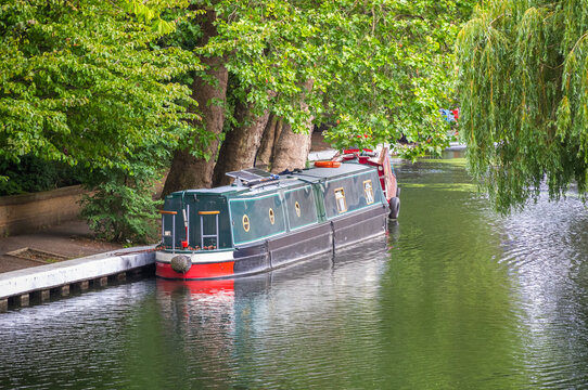 Traditional houseboats in Little Venice in London
