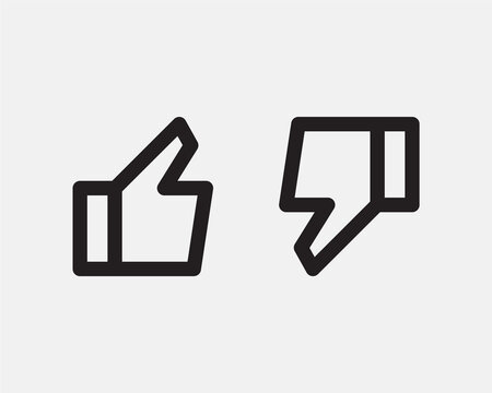 Like icon line design for media or network. Thumb up finger symbol to web site, app. Vector design vote, feedback, ok.