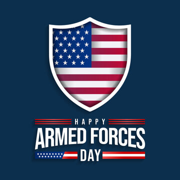 Armed forces day is observed in United States of America during May, it is a chance to show your support for the men and women who make up the Armed Forces community. Vector illustration.