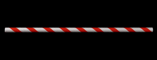 Fototapeta Paper straw isolated on black background and texture with clipping path, eco friendly obraz