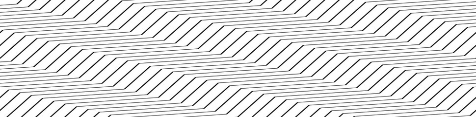Zig-zag, crisscross Lines horizontal rectangle pattern, background. Seamless, Repeatable Wall mural