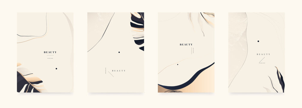 Abstract bright minimalist backgrounds. Fashionable template for design.