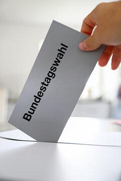 Stimmzettel zur Bundestagswahl in Deutschland