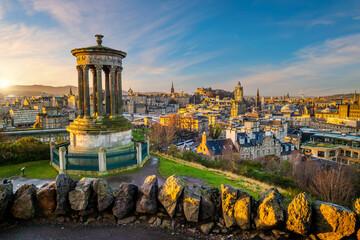 Old town Edinburgh city skyline, Scotland