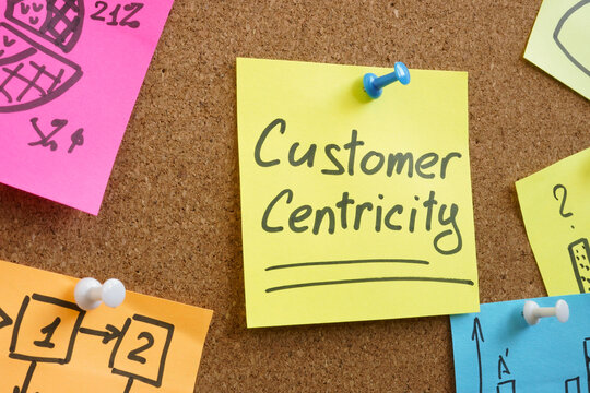 Customer centricity as a goal on the memo stick.