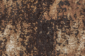 seamless texture of rusty metal surface