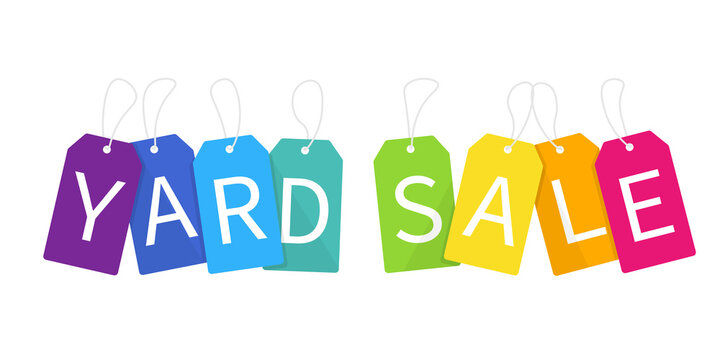 Yard sale tag icon. Clipart image isolated on white background