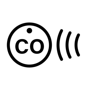 CO detector line icon. Clipart image isolated on white background
