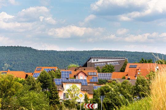 Ortsteil mit Solardächern
